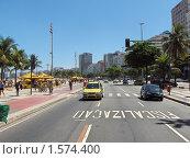 Купить «Набережная Копакабана, Бразилия, Рио де Жанейро», фото № 1574400, снято 4 февраля 2010 г. (c) Сергей Терлецкий / Фотобанк Лори