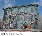 Купить «Картина, нарисованная на стене дома в Сан-Франциско», фото № 1577976, снято 24 сентября 2008 г. (c) Валентина Троль / Фотобанк Лори