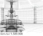 Купить «Эскиз технологичного здания, 3D», иллюстрация № 1589908 (c) Сахно Роман Викторович / Фотобанк Лори