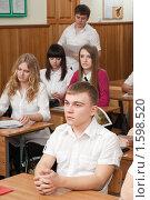 Купить «Урок в одиннадцатом классе», фото № 1598520, снято 17 марта 2010 г. (c) Федор Королевский / Фотобанк Лори