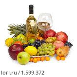 Вино и фрукты. Стоковое фото, фотограф pzAxe / Фотобанк Лори