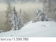 Утро на Енисее. Стоковое фото, фотограф Сергей Зоммер / Фотобанк Лори