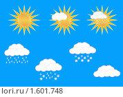 Баннер. Погода. Стоковая иллюстрация, иллюстратор Екатерина Новикова / Фотобанк Лори