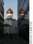 Купить «Церковь святого Николая Чудотворца около Белорусского вокзала.Москва», фото № 1606172, снято 3 апреля 2010 г. (c) Николай Богоявленский / Фотобанк Лори