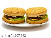 Купить «Гамбургеры», фото № 1607192, снято 10 марта 2010 г. (c) Анна Лурье / Фотобанк Лори