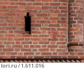 Кирпичная стена. Фрагмент. Стоковое фото, фотограф Вера Власенко / Фотобанк Лори