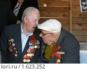 Купить «Разговор двух ветеранов», фото № 1623252, снято 9 мая 2009 г. (c) Татьяна Нафикова / Фотобанк Лори