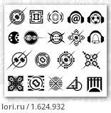Логотип, черно-белый набор. Стоковая иллюстрация, иллюстратор Роман Зацаринин / Фотобанк Лори