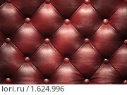 Купить «Кожаная обивка роскошного дивана», фото № 1624996, снято 12 апреля 2010 г. (c) Игорь Долгов / Фотобанк Лори