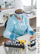 Купить «Лабораторный анализ крови», фото № 1627992, снято 6 апреля 2010 г. (c) Александр Подшивалов / Фотобанк Лори