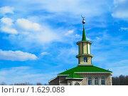 Купить «Мечеть в пригороде Уфы», фото № 1629088, снято 14 апреля 2010 г. (c) Олег Кириллов / Фотобанк Лори