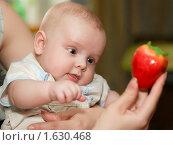 Ребенок и клубника. Стоковое фото, фотограф Helen Balakshina / Фотобанк Лори