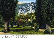 Купить «Кавказ. Вид из парка на дворец принца Ольденбургского. Гагры. Роcсия», фото № 1631836, снято 21 марта 2019 г. (c) Юрий Кобзев / Фотобанк Лори