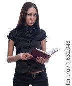 Деловая девушка с ежедневником. Стоковое фото, фотограф Анна Мартынова / Фотобанк Лори