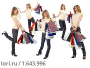 Купить «Девушка с покупками», фото № 1643996, снято 20 апреля 2009 г. (c) Losevsky Pavel / Фотобанк Лори