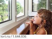 Купить «Смеющаяся девочка на балконе», фото № 1644836, снято 9 июля 2009 г. (c) Losevsky Pavel / Фотобанк Лори