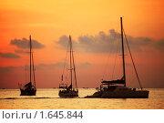 Купить «Яхты в море», фото № 1645844, снято 6 апреля 2010 г. (c) Морозова Татьяна / Фотобанк Лори