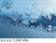 Купить «Морозные узоры на стекле», фото № 1647456, снято 6 января 2008 г. (c) Dina / Фотобанк Лори