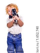 Купить «Юный оператор», фото № 1652740, снято 11 апреля 2010 г. (c) Лукаш Дмитрий / Фотобанк Лори