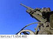 Купить «Зенитка времен Великой Отечественной войны», фото № 1654460, снято 9 апреля 2010 г. (c) Кардаков Алексей Игоревич / Фотобанк Лори