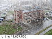 Купить «Снежная метель весной. Москва», фото № 1657056, снято 25 апреля 2010 г. (c) Екатерина Овсянникова / Фотобанк Лори