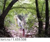 Водопад Джур-Джур. Вид издалека. Стоковое фото, фотограф Ольга Маркова / Фотобанк Лори