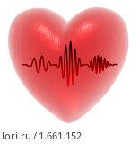 Купить «Сердце с кардиограммой на белом фоне», иллюстрация № 1661152 (c) Alperium / Фотобанк Лори