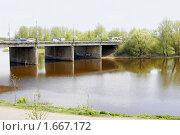 Мост через Которосль, Ярославль (2009 год). Редакционное фото, фотограф Петр Бюнау / Фотобанк Лори