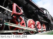 Купить «Паровозные колёса на рельсах», фото № 1668284, снято 29 апреля 2010 г. (c) Alechandro / Фотобанк Лори