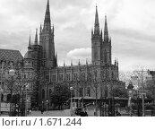 Рыночная церковь в Висбадене, Германия. Стоковое фото, фотограф Татьяна Крамаревская / Фотобанк Лори