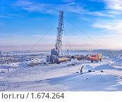 Купить «Буровая на Севере», фото № 1674264, снято 23 апреля 2019 г. (c) Мирзоянц Андрей / Фотобанк Лори