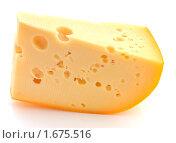 Купить «Кусок сыра на белом фоне», эксклюзивное фото № 1675516, снято 13 апреля 2010 г. (c) Юрий Морозов / Фотобанк Лори