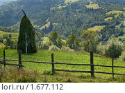 Купить «Стог сена на перевала в Закарпатье», фото № 1677112, снято 16 августа 2007 г. (c) Aleksander Kaasik / Фотобанк Лори