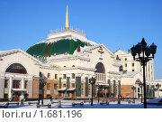 Купить «Железнодорожный вокзал в городе Красноярске», фото № 1681196, снято 13 февраля 2010 г. (c) Диана Кан / Фотобанк Лори