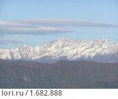 Купить «Кавказские горы с высоты птичьего полета», фото № 1682888, снято 24 октября 2005 г. (c) Шарабарин Антон / Фотобанк Лори