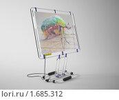 Хай-тек монитор. Стоковая иллюстрация, иллюстратор Казбеев Павел / Фотобанк Лори