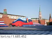Купить «Красная площадь в праздничном убранстве», фото № 1685452, снято 8 мая 2010 г. (c) Вячеслав Беляев / Фотобанк Лори
