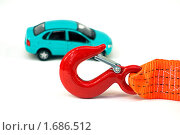 Купить «Автомобиль и буксировочный трос», фото № 1686512, снято 5 мая 2010 г. (c) Дмитрий Грушин / Фотобанк Лори