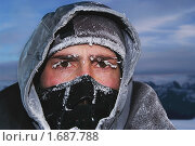 Купить «Портрет замерзшего альпиниста в ветрозащитной маске», фото № 1687788, снято 17 июля 2018 г. (c) Sergey Toronto / Фотобанк Лори