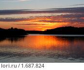 Закат на Ладожском озере. Стоковое фото, фотограф Александр Евсюков / Фотобанк Лори