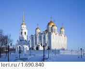 Купить «Успенский собор во Владимире», фото № 1690840, снято 10 января 2010 г. (c) Яков Филимонов / Фотобанк Лори