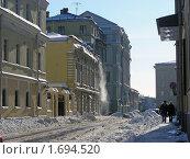 Купить «Москва. Городской пейзаж. Староваганьковский переулок», эксклюзивное фото № 1694520, снято 23 февраля 2010 г. (c) lana1501 / Фотобанк Лори