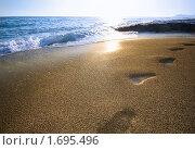 Купить «Следы на песке», фото № 1695496, снято 28 августа 2009 г. (c) Дмитрий Ощепков / Фотобанк Лори