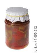 Купить «Консервированный перец в банке», фото № 1695512, снято 24 ноября 2009 г. (c) Дмитрий Ощепков / Фотобанк Лори
