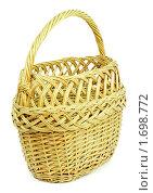Купить «Корзинка из ивовой лозы», фото № 1698772, снято 12 мая 2010 г. (c) Александр Романов / Фотобанк Лори
