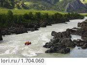 Купить «Рафтинг на реке Катунь. Горный Алтай», фото № 1704060, снято 13 июня 2009 г. (c) Андрей Дегтярев / Фотобанк Лори