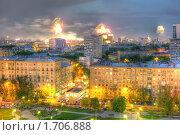 Купить «Салют 9 мая 2010 в центре Москвы», фото № 1706888, снято 9 мая 2010 г. (c) Kremchik / Фотобанк Лори