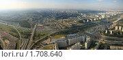 Купить «Панорама Москвы и МКАД», фото № 1708640, снято 25 сентября 2018 г. (c) Дмитрий Бакулин / Фотобанк Лори