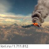 Купить «Извержение вулкана», иллюстрация № 1711812 (c) Виктор Застольский / Фотобанк Лори