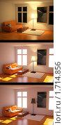 Коллаж изображений интерьера в разном освещении. Стоковая иллюстрация, иллюстратор Казбеев Павел / Фотобанк Лори
